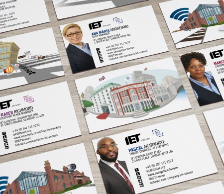 IET Venues business cards