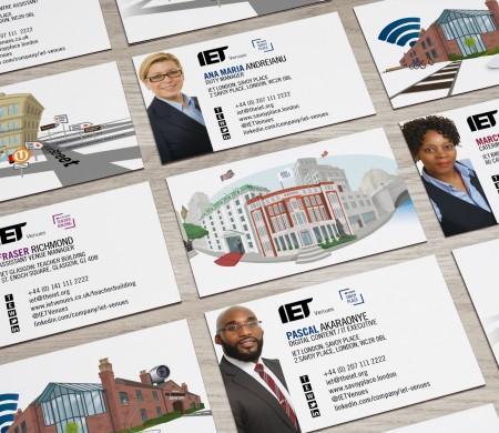IET Venues business cards