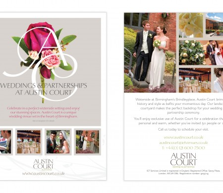 IET Venues wedding adverts and banner