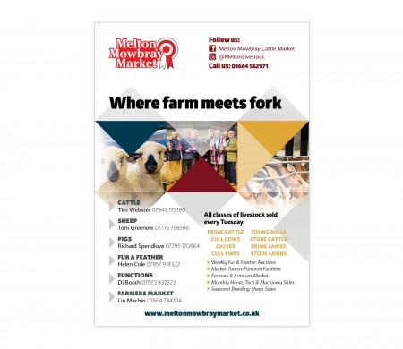 Melton Mowbray Market adverts