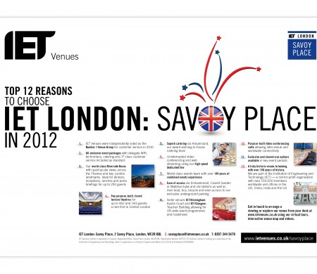 Savoy Place top ten London advert