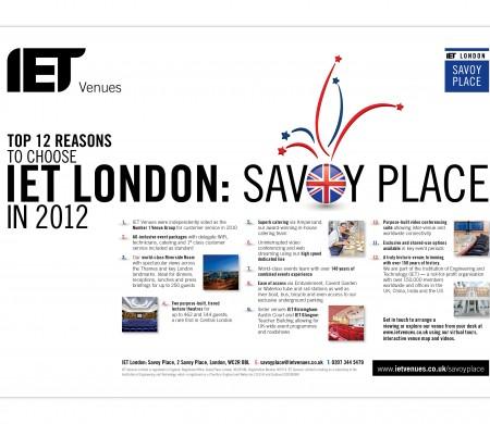 Savoy Place top ten London advert